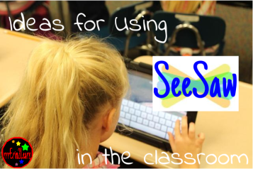 using seesaw in the classroom cover